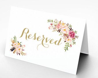 Printable Reserved Table Tents Wedding Reserved Sign Reserved Card Recetion Printable Wedding Sign The Wedding Signs Printable Wedding Sign Wedding Printables