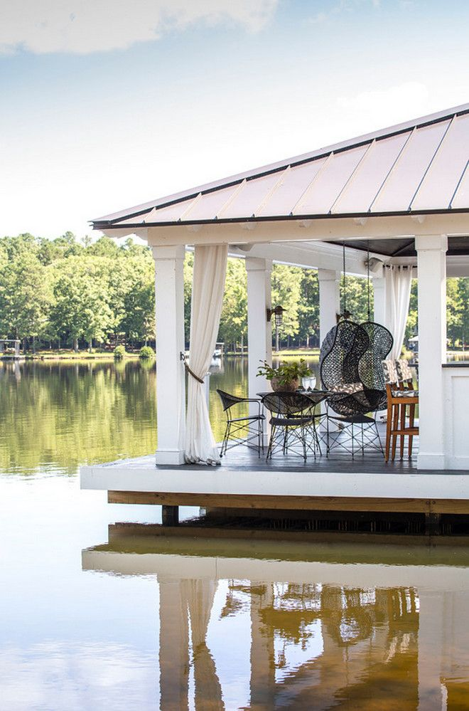 boat dock converted into a party covered dock dock - Dock Design Ideas