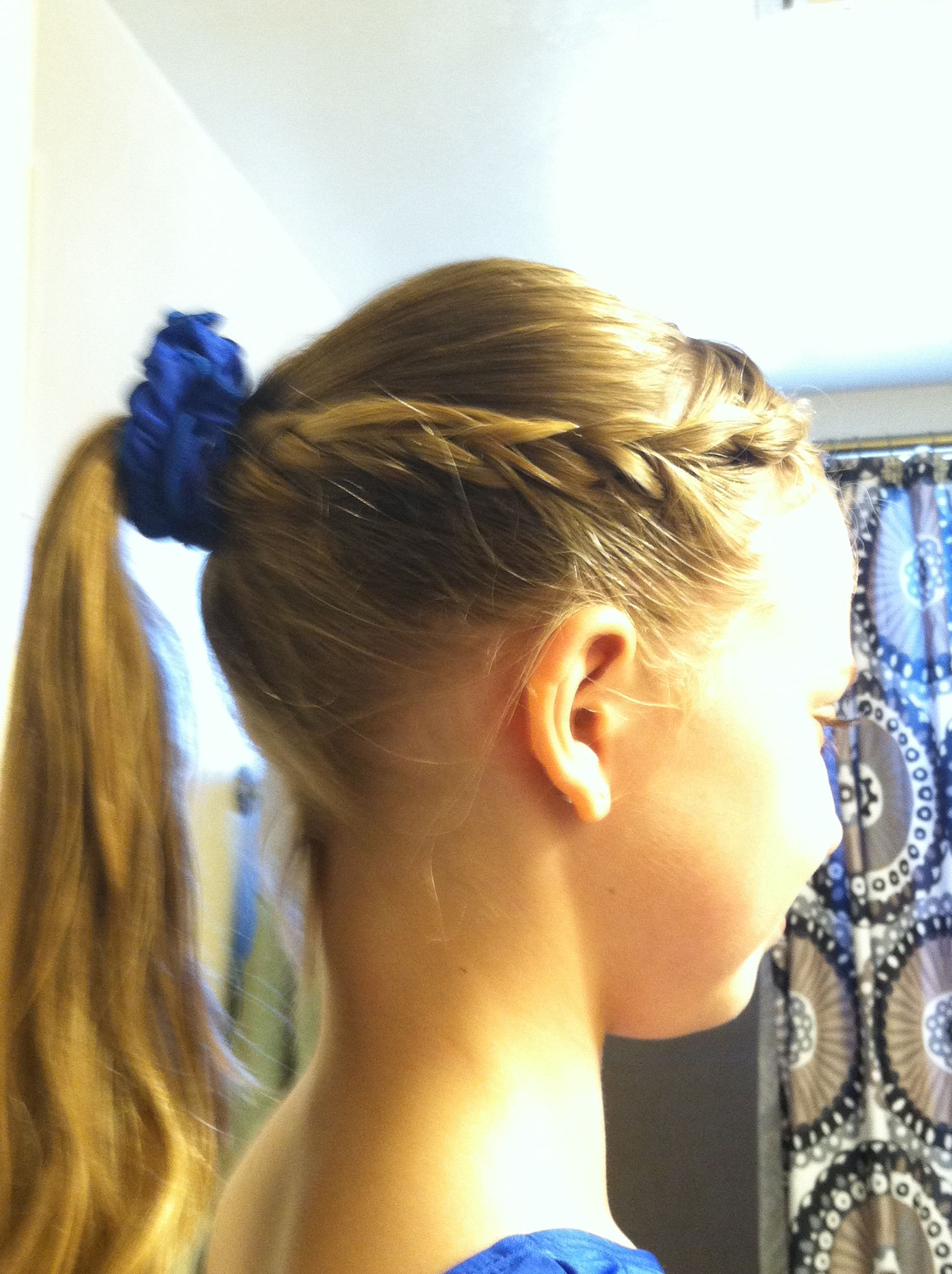 I love this hairstyle i use it for gymnastics fyi this is my own