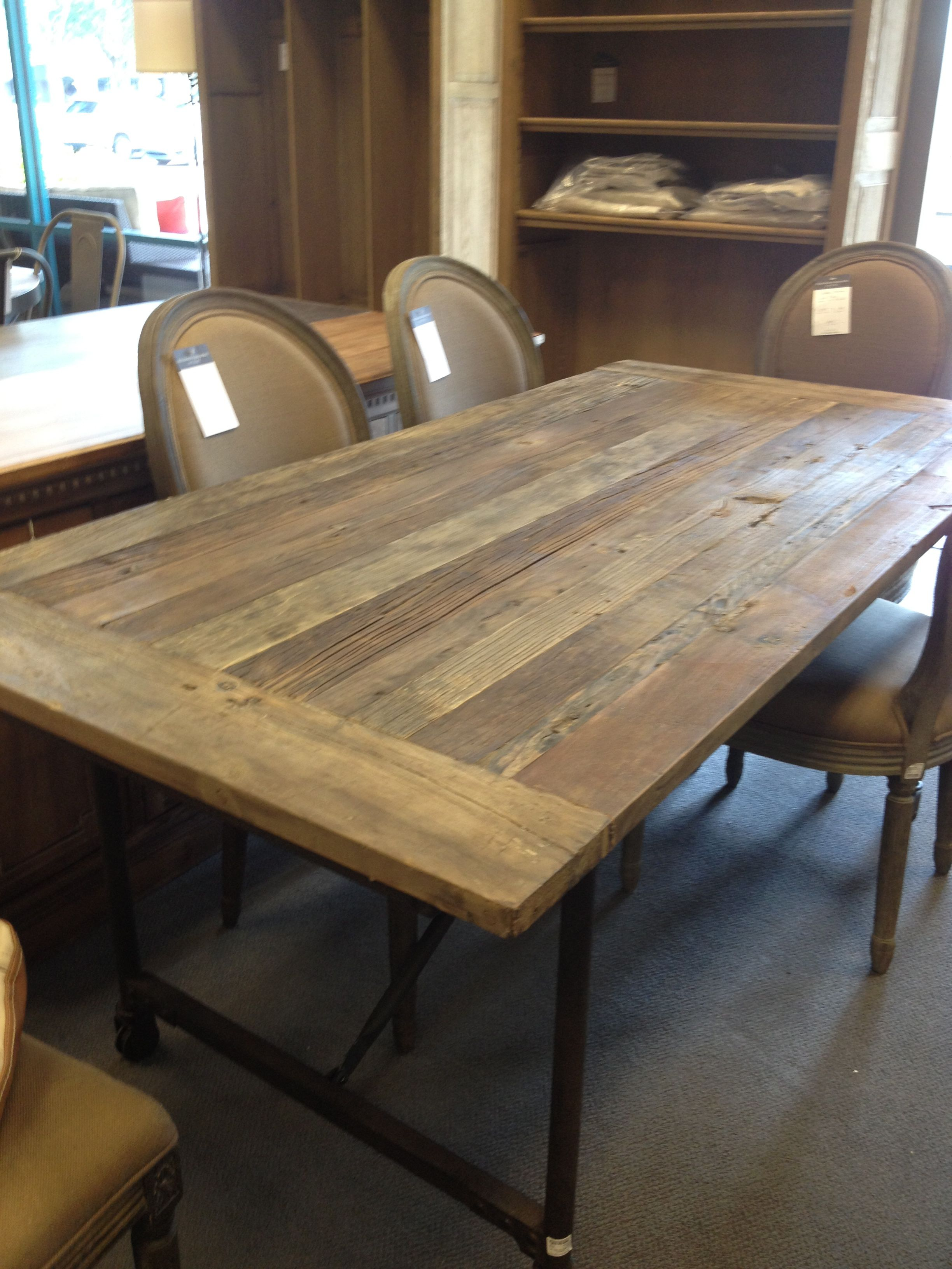 "Table top 72"" Flatiron table from Restoration Hardware"
