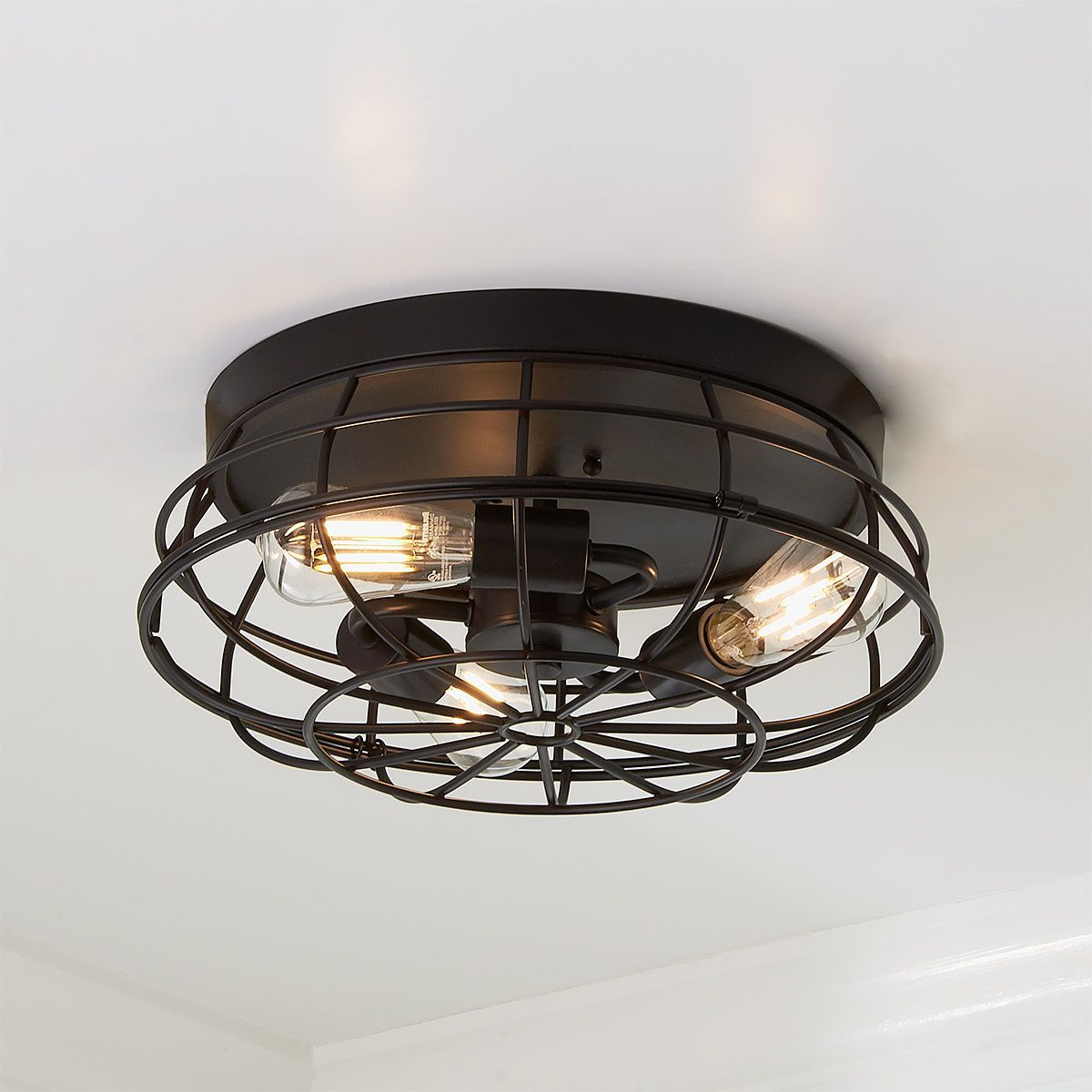 Industrial Grill Ceiling Light In 2021 Low Ceiling Lighting Flush Mount Ceiling Lights Ceiling Lights