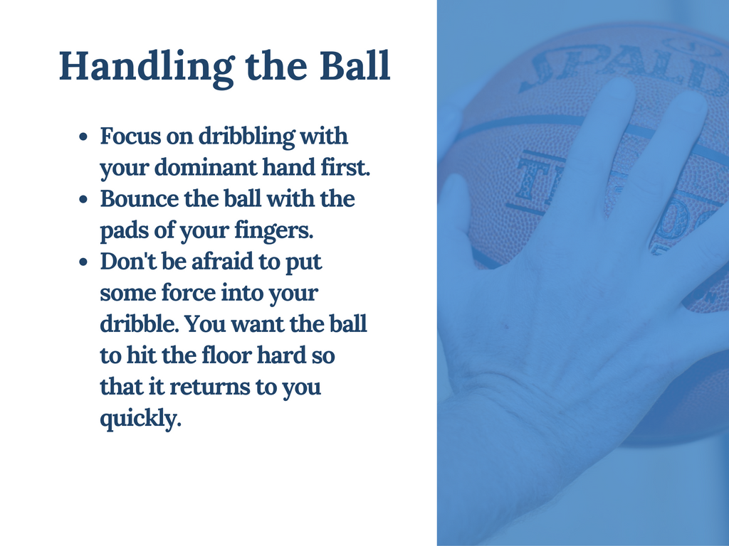 this tip comes from this presentation on developing your dribbling