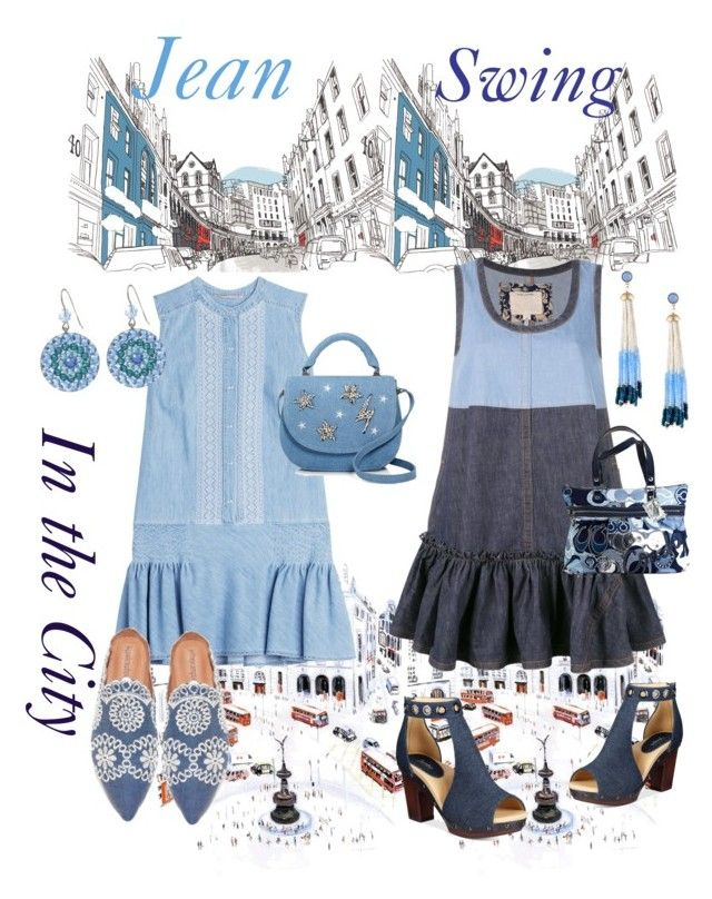 """""""Jean Swing in the City"""" by mdfletch ❤ liked on Polyvore featuring Ermanno Scervino, Marc Jacobs, Jambu, Jeffrey Campbell, Studio 33, Tarina Tarantino, Lydell NYC and jeanswing"""