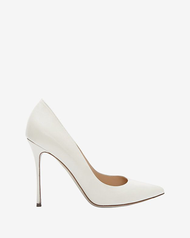 #INTERMIX #SWEEPSTAKES Sergio Rossi Godiva Jasmine Pointy Toe Pump: White: Elegantly sophisticated in winter white. 4 1/2 stiletto heel. Leather sole. In white. Made in ...