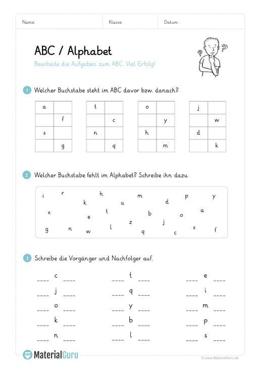 ein kostenloses arbeitsblatt zum abc alphabet auf dem die sch ler verschiedene bungen zur. Black Bedroom Furniture Sets. Home Design Ideas