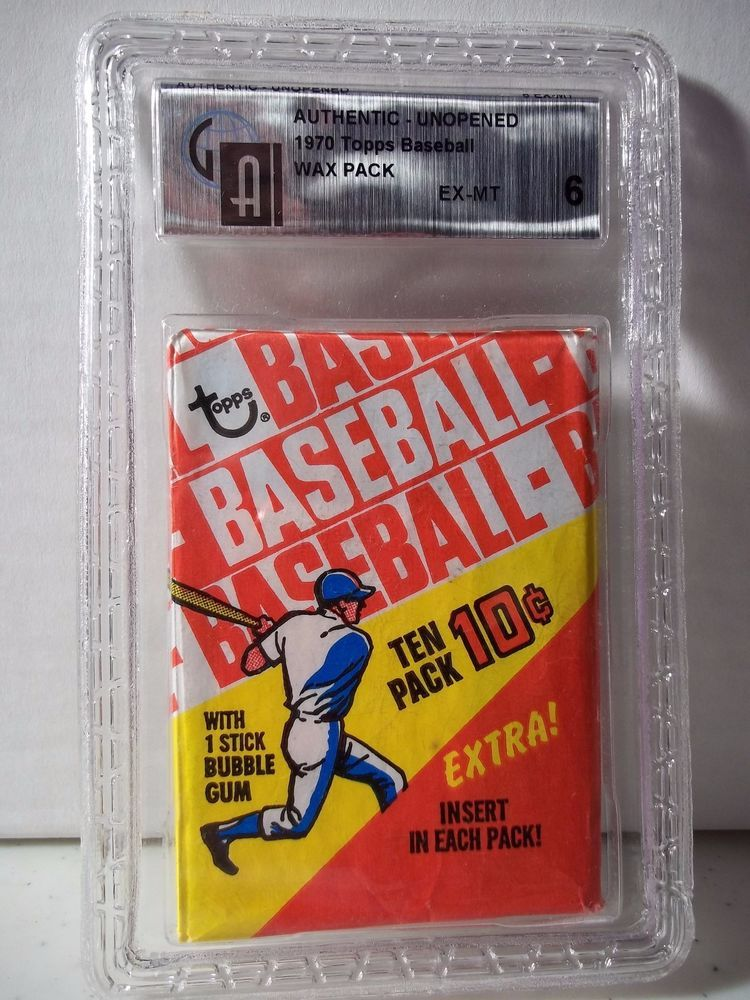 1970 Topps Baseball Wax Pack GAI EXMT 6 MLB Collectible