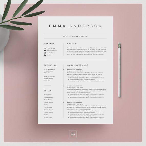 clean modern resume template 4 pages mod u00e8le de cv - lettre de couverture