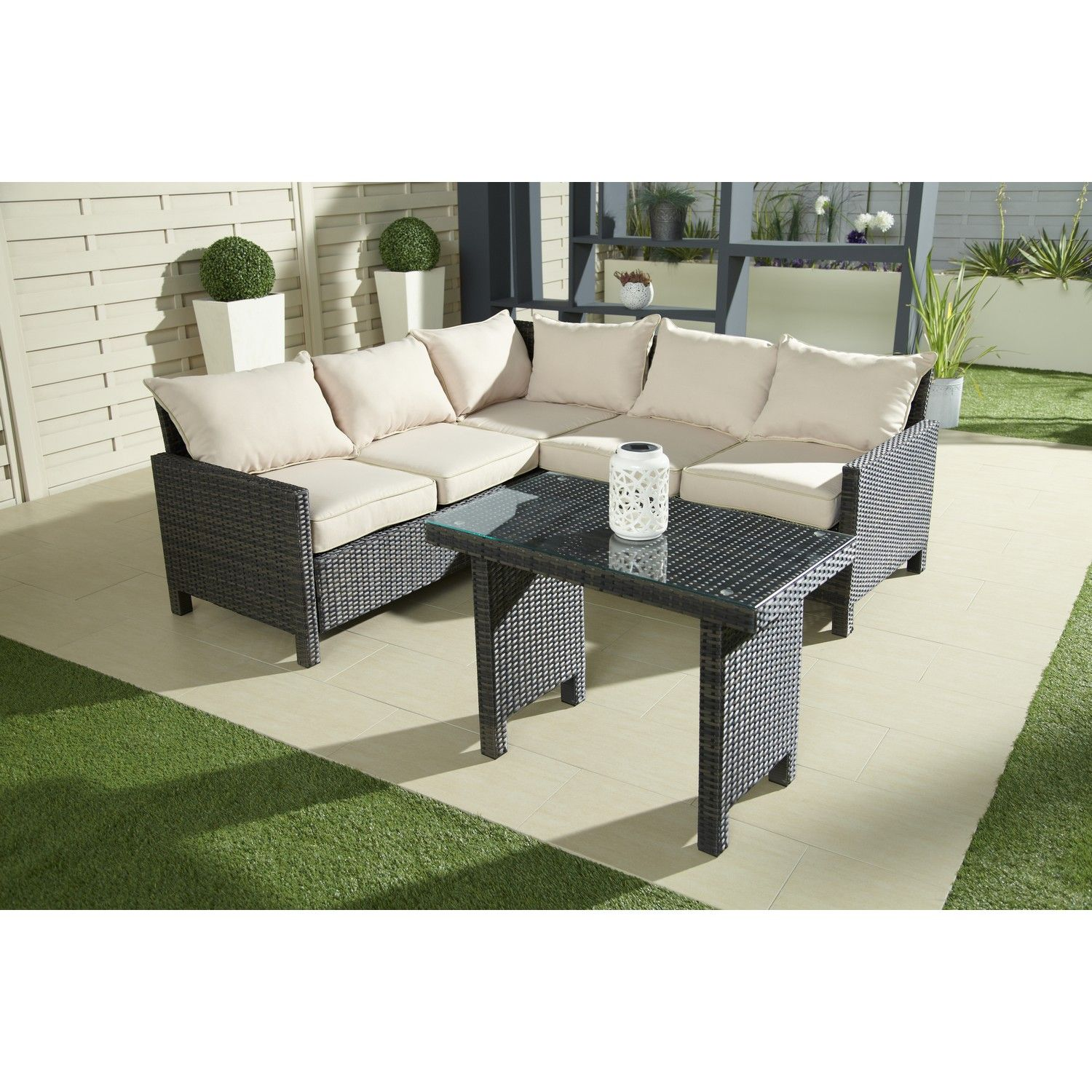 WOW Rattan Effect Garden Corner Sofa Collect in Store