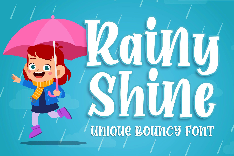 Rainy Shine (Font) by Blankids Studio · Creative Fabrica
