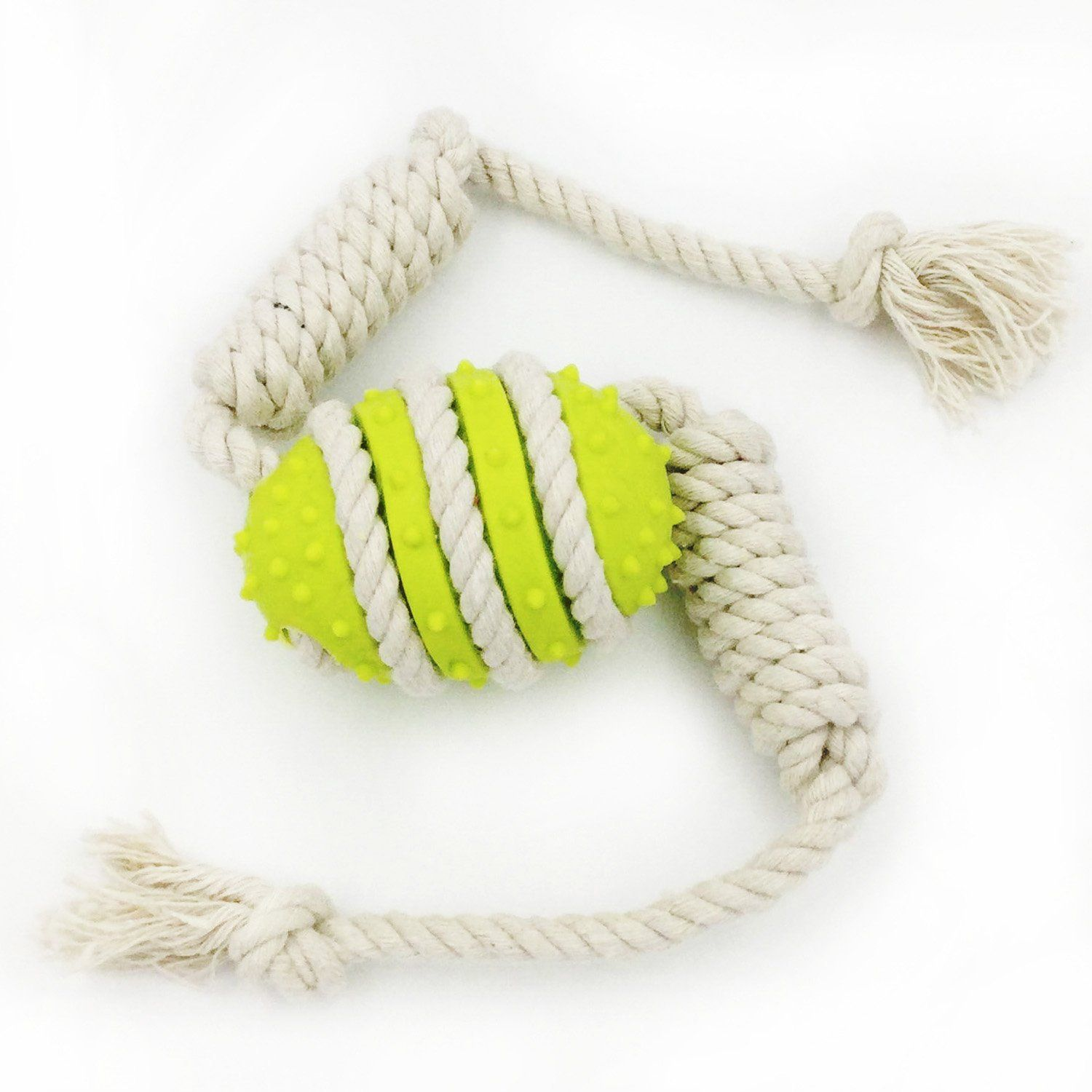 Dog Toy Ball With Rope Dog Fetch Ball Toy Bite Resistant Chew Toys