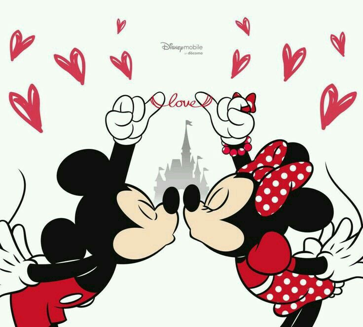 I Love You Mickey And Minnie Wallpaper Do Mickey Mouse
