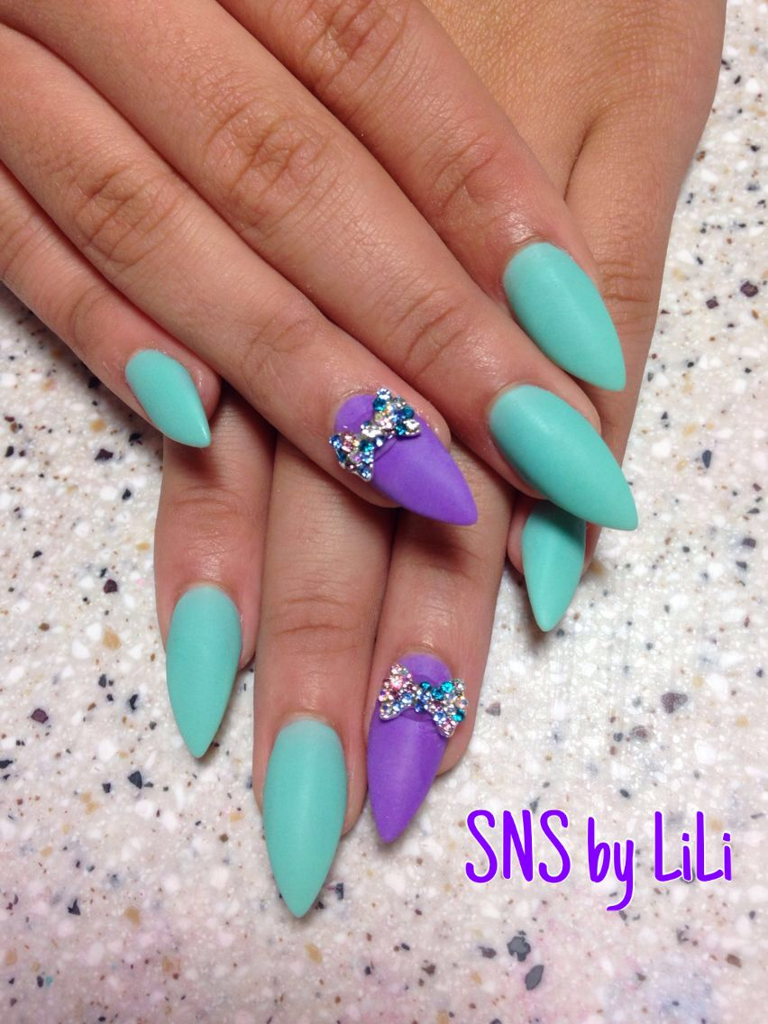 SNS nails with matte color by LiLi ! | Nails | Pinterest ...