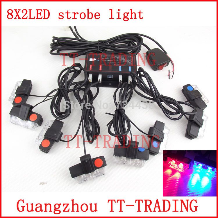 Strobe Lights For Cars Gorgeous Vehicle Strobe Lights 16 Led Flash Warning Light Police Auto Grille Inspiration