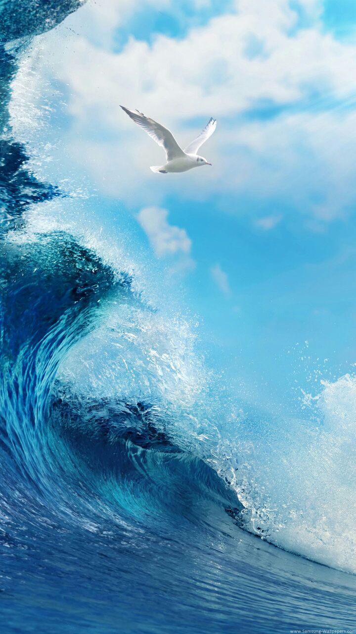 Wallpaper For Samsung Galaxy Photo Desktop Nature Photos Waves Backgrounds Wave