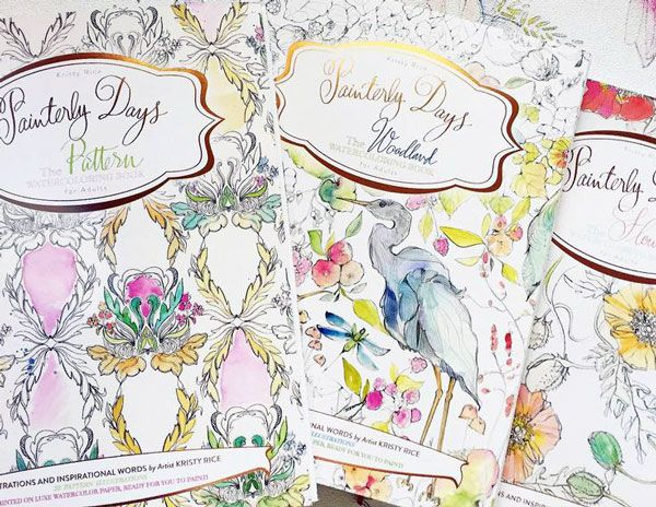 Watercolor Coloring Books For Adults By Kristy Rice Coloring Books Watercolor Books Coloring Book Pages
