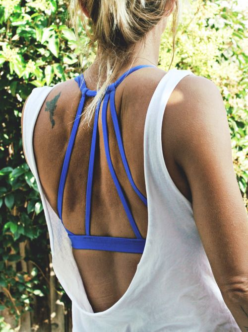 Playing with scissors: No sew backless tank.
