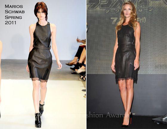 "Rosie Huntington-Whiteley In Marios Schwab – ""Transformers: Dark of the Moon"" Osaka Press Conference"