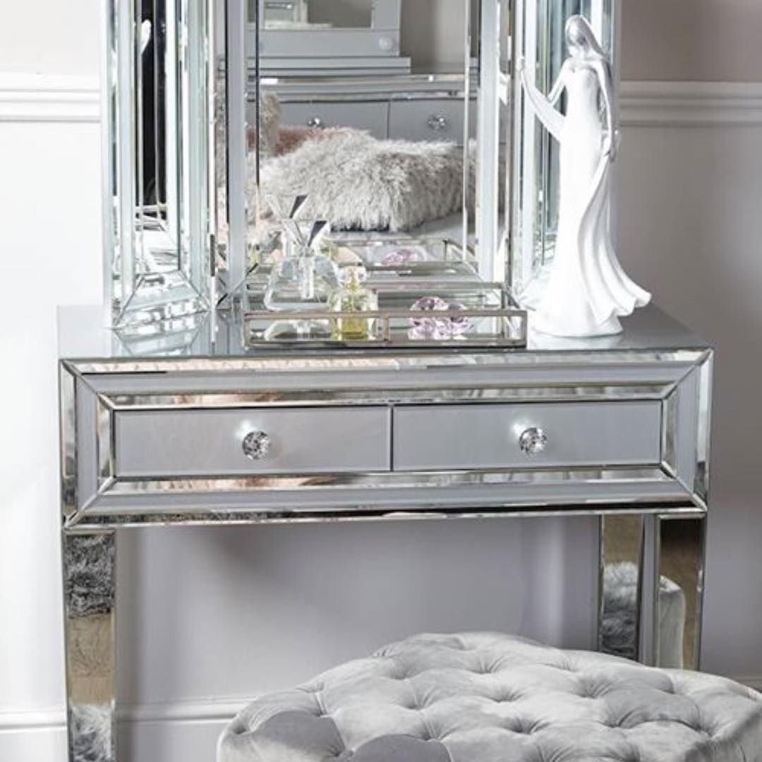 New The 10 Best Home Decor With Pictures The Gorgeous Grey Dubai Mirrored Glass Dressing Table Simp Mirrored Bedroom Furniture Grey Glass Trifold Mirror