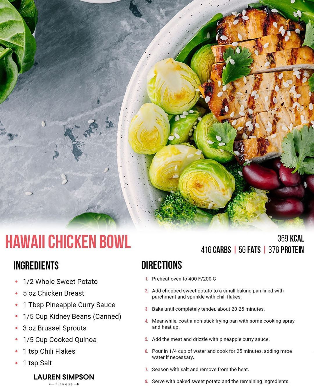 Lauren Simpson Fitness On Instagram Just Another Little Taster Of Some Of The Brand New Recipes That Will Feature In My Upco New Recipes Recipes Chicken Bowl