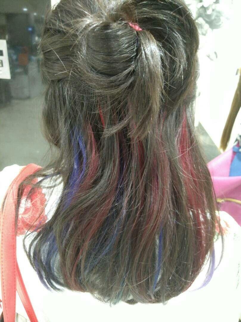 Blue purple magenta hair color combo moi Pinterest Magenta