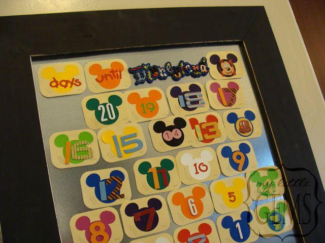 My Little Gems Disneyland Activity Countdown Calendar + { free