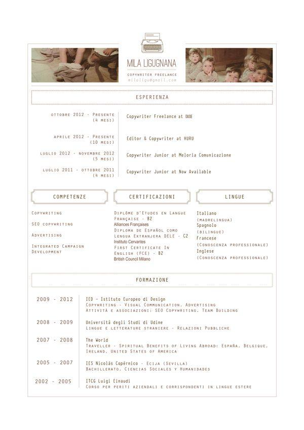 Curriculum Vitae by Mila Ligugnana, via Behance cv design - resume vitae