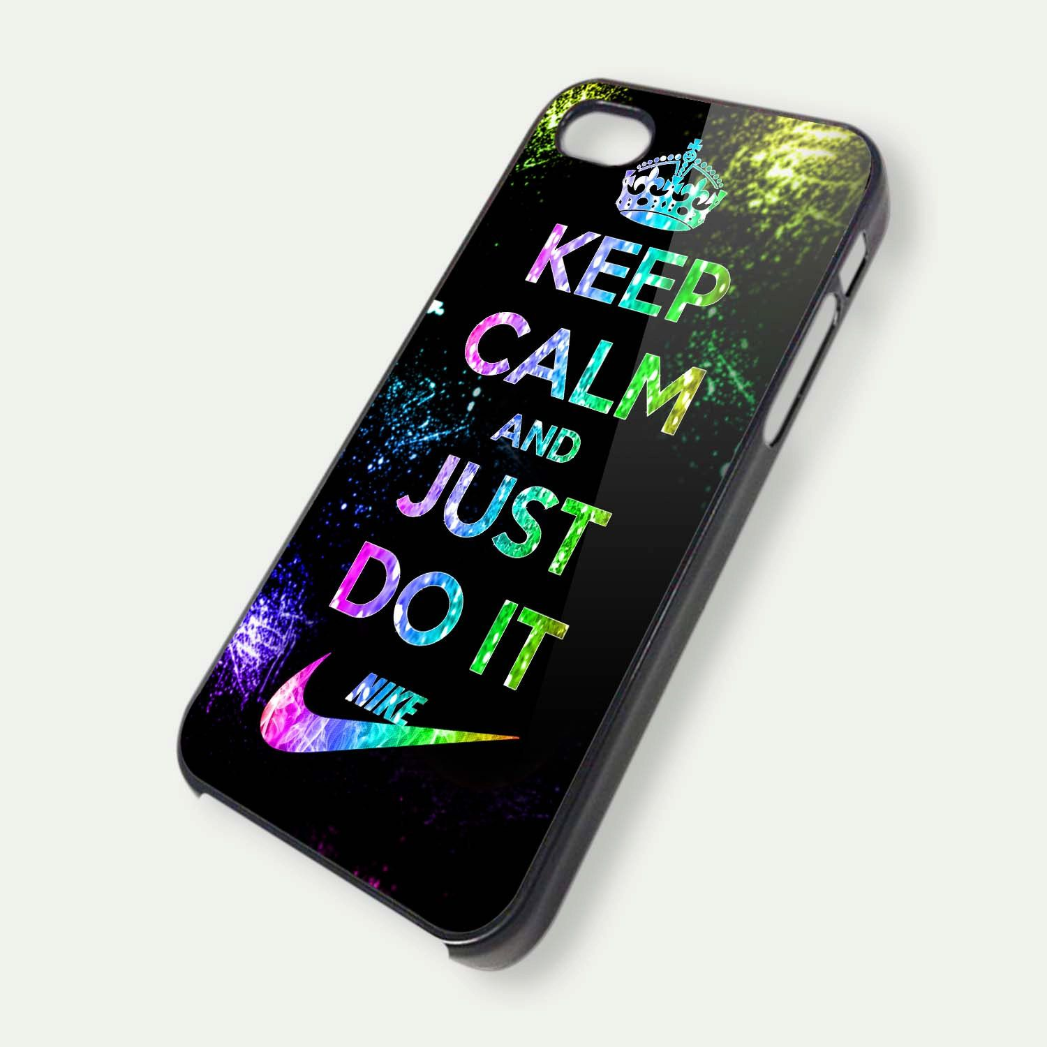 Keep Calm And Just Do It Nike iPhone 5 Case by ArminArtDesign, $14.99