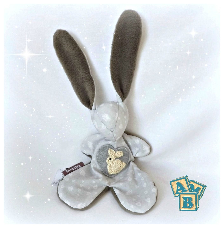 doudou bebe gris