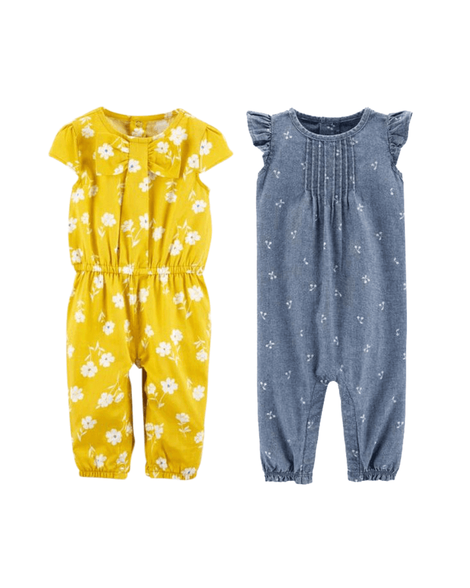 2a31d9fad4 Baby Girl Jumping into Spring 2-Pack Jumpsuits from Carters.com. Shop  clothing & accessories from a trusted name in kids, toddlers, and baby  clothes.