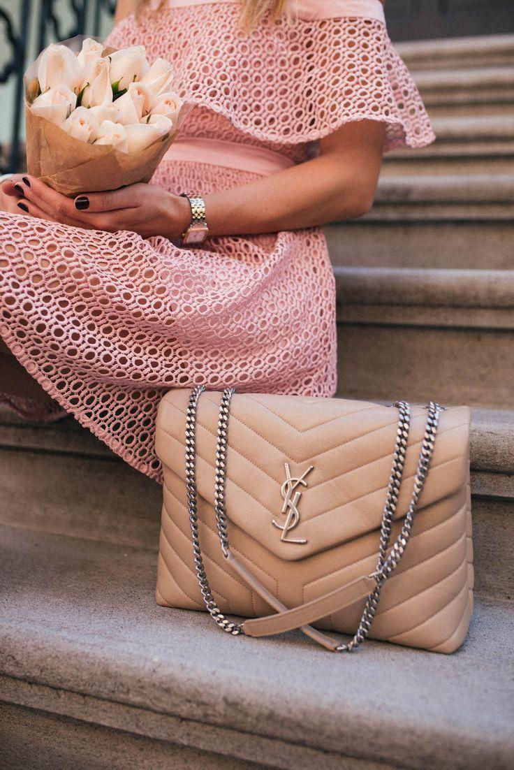 932b37c6f Saint Laurent Medium LouLou Monogram Chain Bag | Haute Handbags in ...