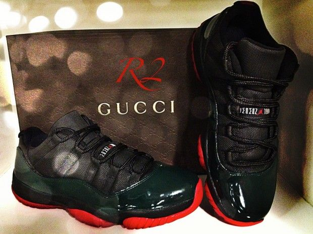 "reputable site 5870e b7b3e AIR JORDAN 11 LOW ""GUCCI"" INSPIRED CUSTOM"