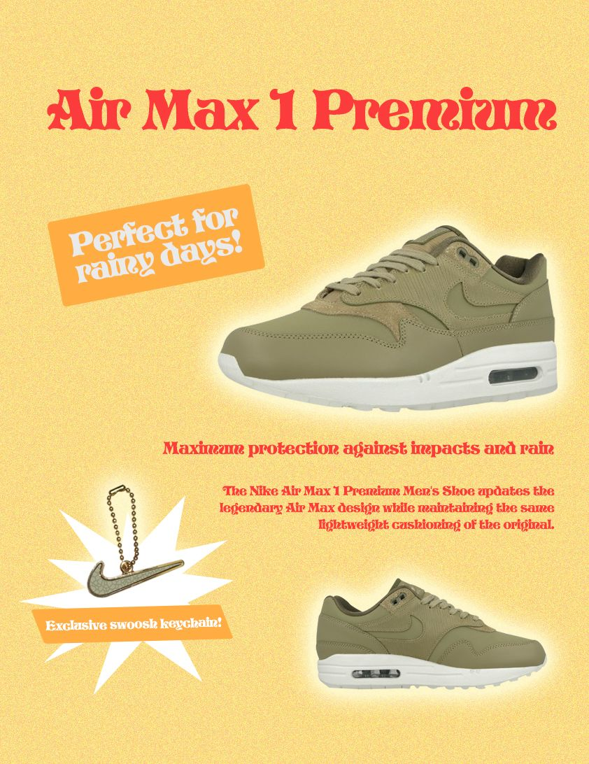 7024614a8a39 Nike Air MAx 1 Premium Green. Against the rain!     nike   nikeairmax1premium  airmax1  rain  kicksonfire