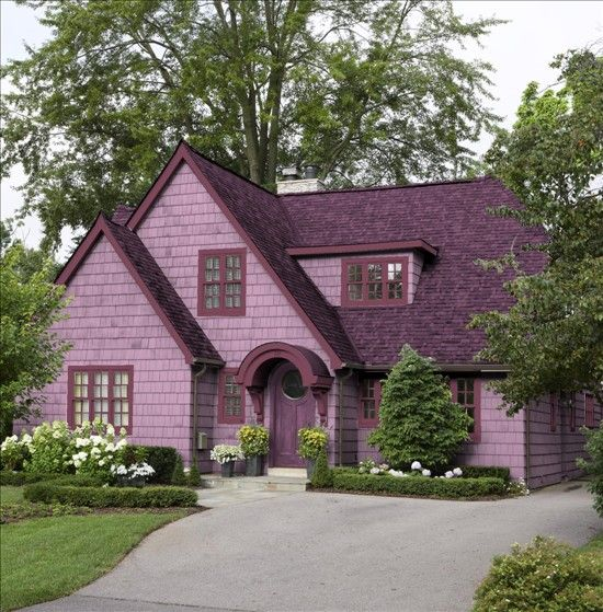 Alternate Purple House House Paint Exterior Exterior
