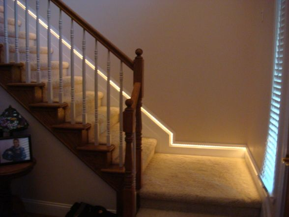 Lighting Basement Washroom Stairs: Indoor Stair Lighting