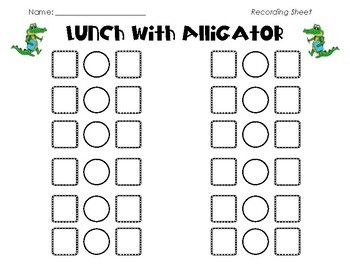 Lunch with Alligator K.CC.6 Compare Kindergarten Common