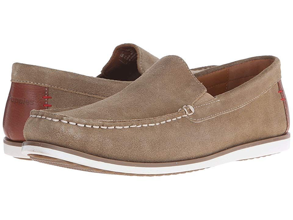 Hush Puppies Bob Portland Taupe Suede Men S Slip On Shoes Feel And Look Luxuriously Loungey In The Bob Portland Lo Mens Slip On Shoes Dress Shoes Men Shoes