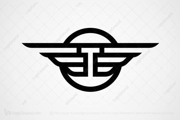 Logo For Sale Winged Letter T