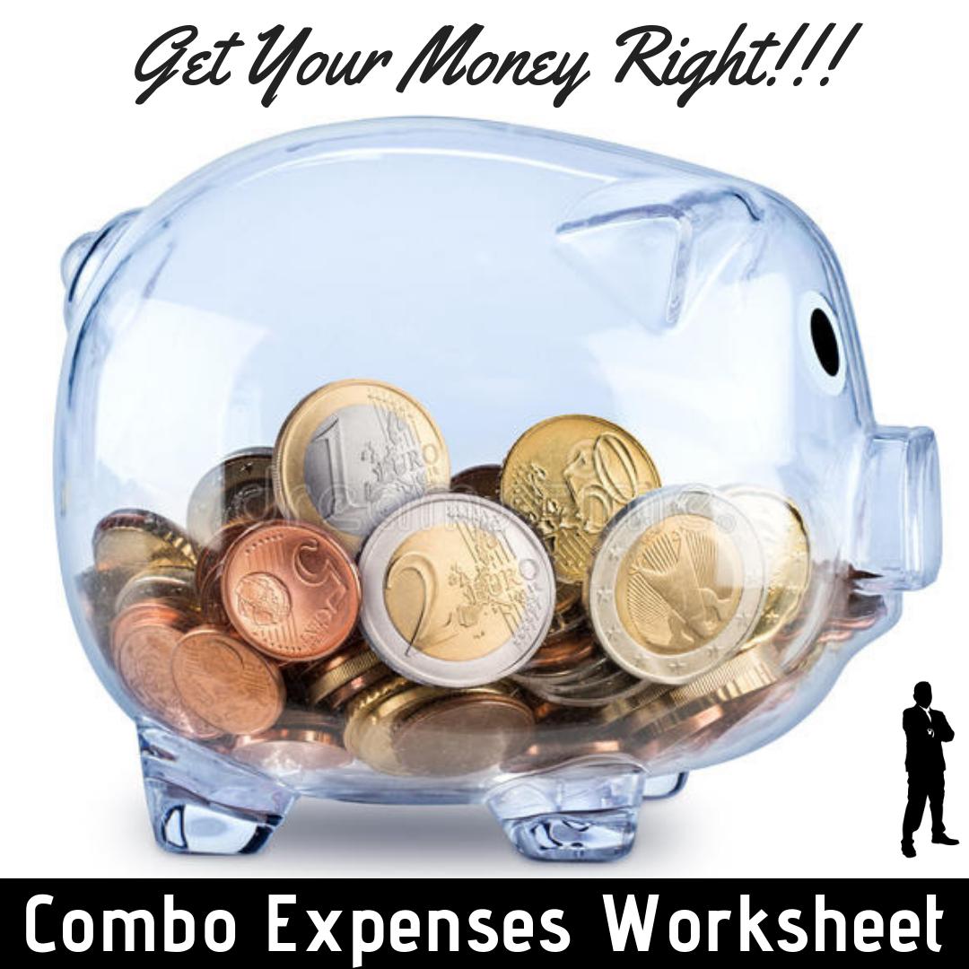 Combo Expenses Worksheet