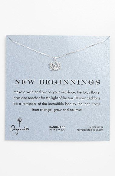 Free shipping and returns on dogeared new beginnings boxed lotus free shipping and returns on dogeared new beginnings boxed lotus pendant necklace at nordstrom a beautifully detailed hand cast lotus pendant cast mightylinksfo