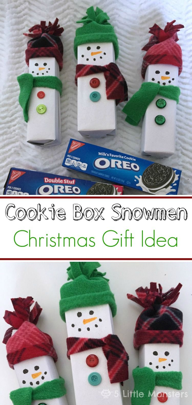 Cookie Box Snowmen