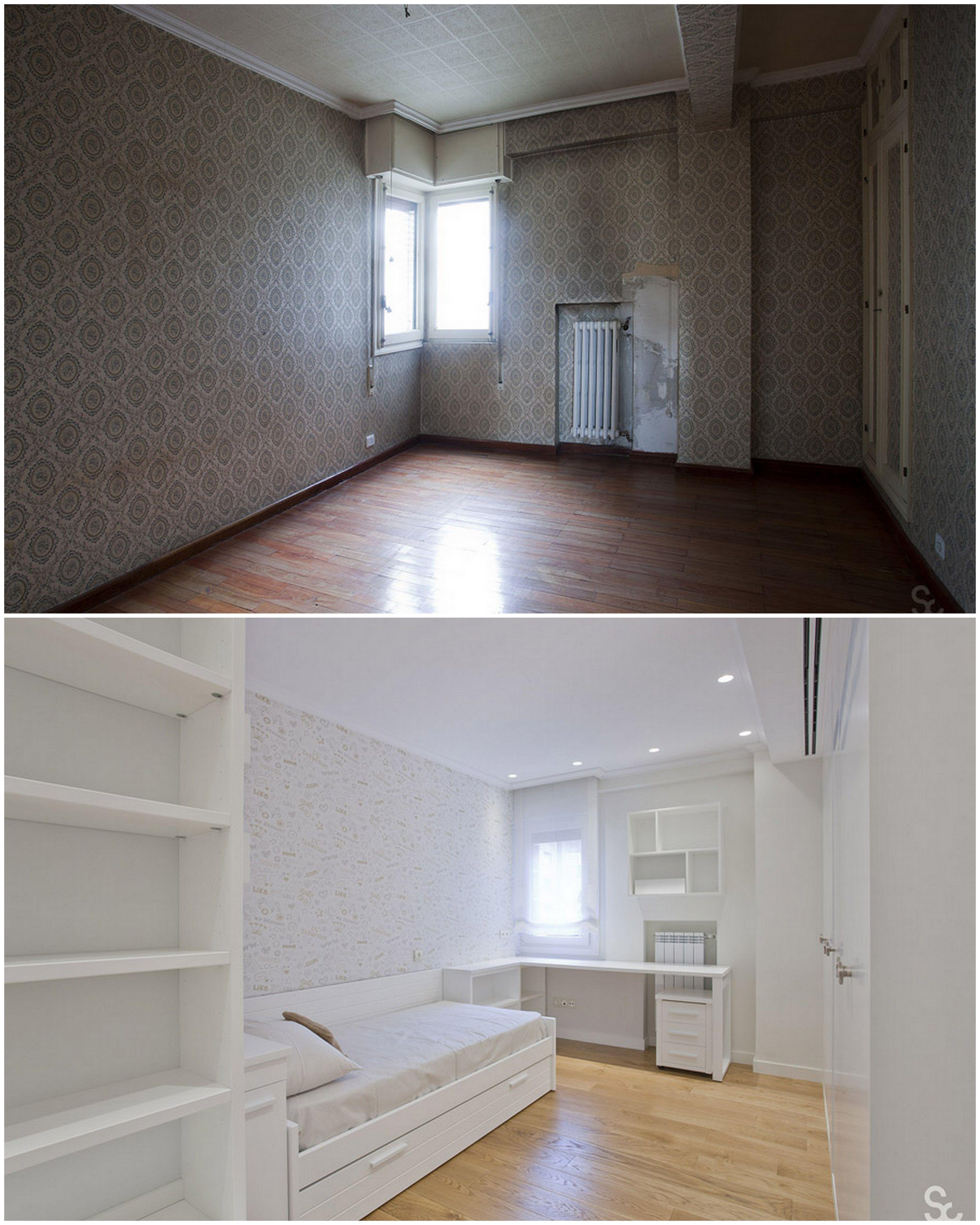Antes y despu s de la reforma realizada por servicons - El dormitorio pamplona ...