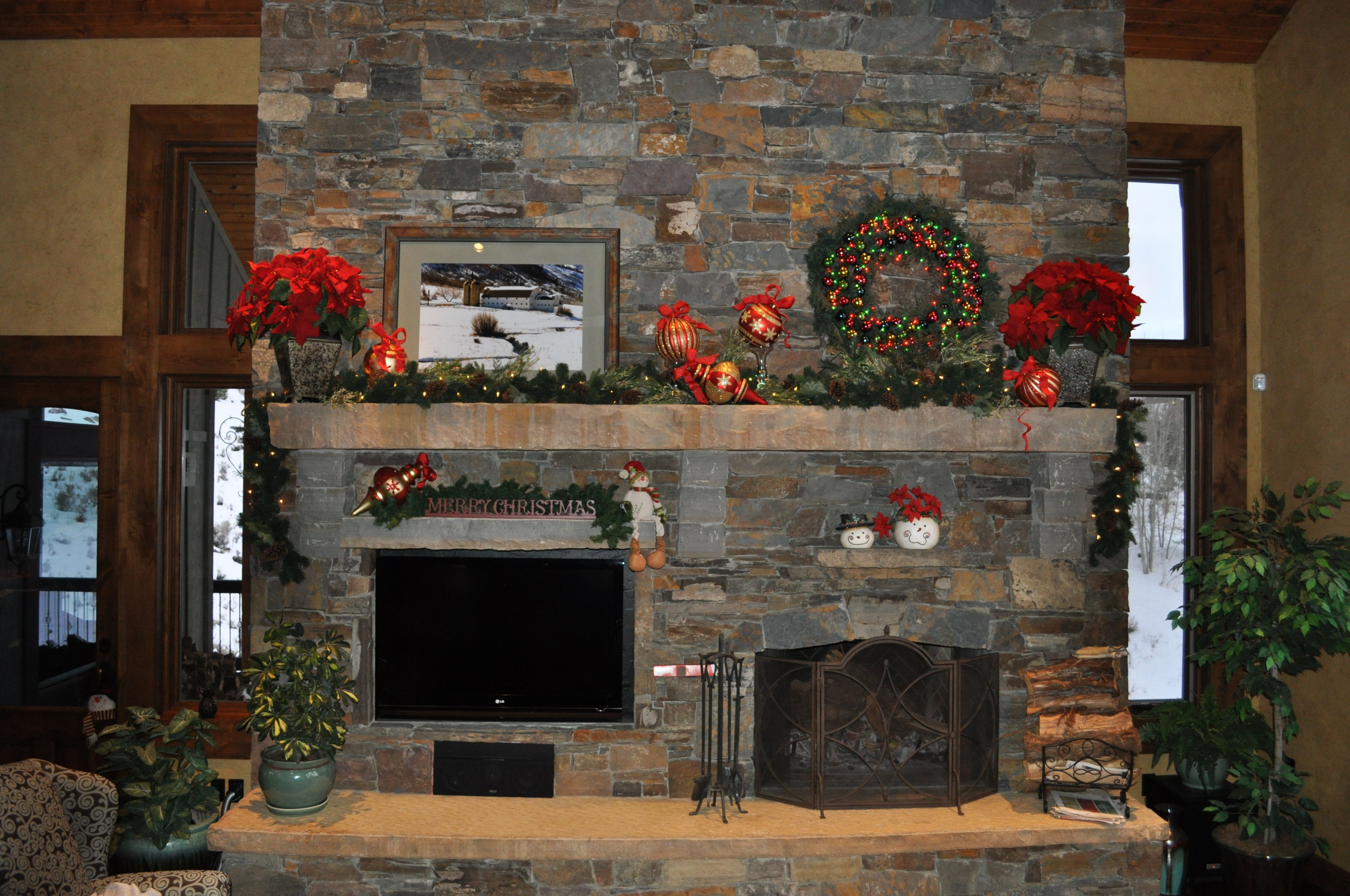 20+ Decorating a stone fireplace mantel for christmas information ...