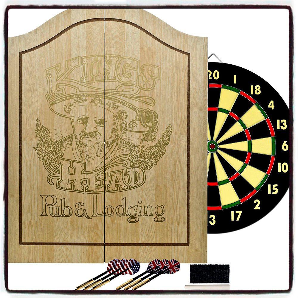 Wondrous Vintage Dart Board Cabinet Light Wood Dartboard Set Home Interior And Landscaping Dextoversignezvosmurscom