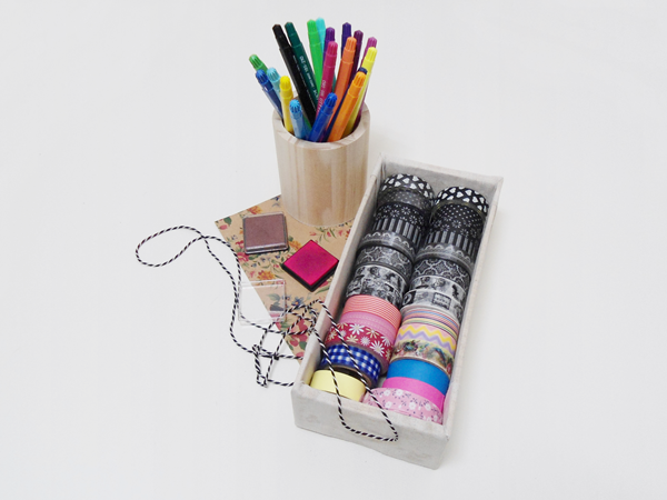 Washi tapes, markers, ink, baker twine, papers...