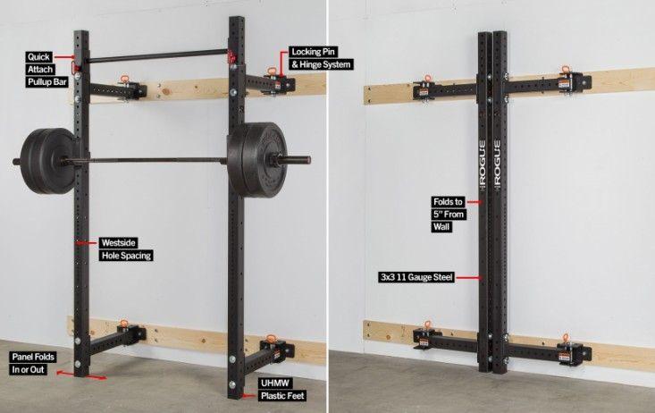 Rogue RML-3W Fold Back Wall Mount Rack | Rogue Fitness ...