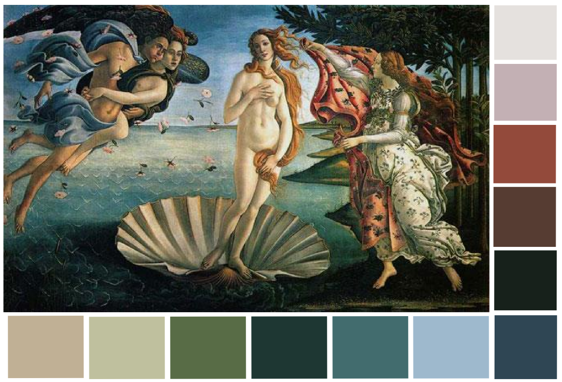 Botticelli S Birth Of Venus Color Palette Renaissance Art