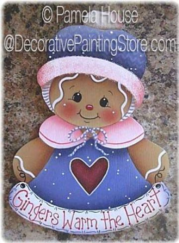 Gingers Warm The Heart Ornament Magnet By Pamela House Pdf Download All Epatterns Phd143ep Gingerbread Crafts Gingerbread Decorations Christmas Paintings