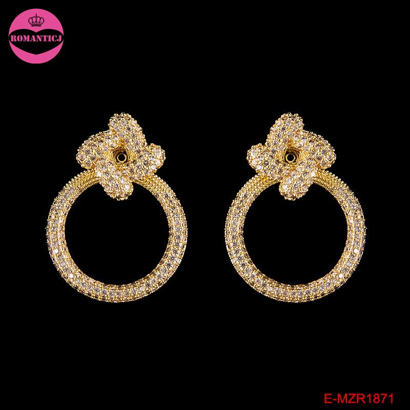 Click to Buy << Latest luxury design gold big circle earrings for ...