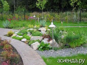 Камни в дизайне сада - дизайн участка, камни, альпийская горка, рокарий,