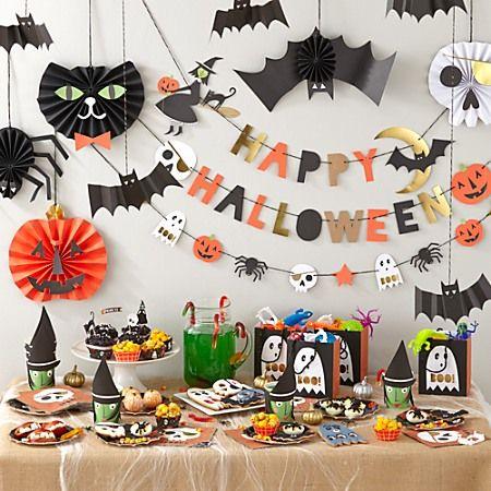 Halloween party garland ideas halloween pinterest for Halloween girlande
